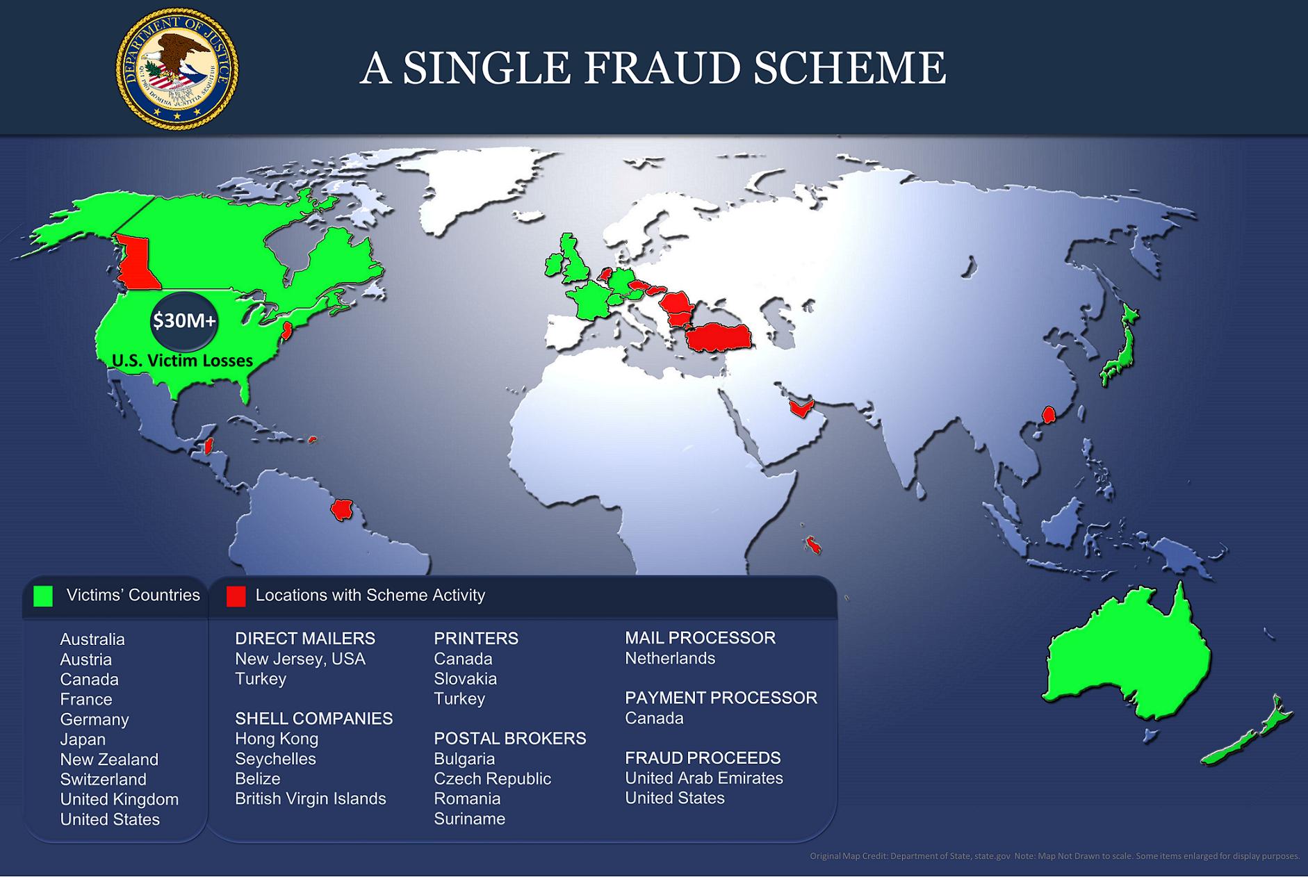 Justice Department Coordinates Nationwide Elder Fraud Sweep of More Than 250 Defendants
